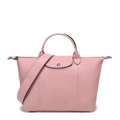 Longchamp/珑骧 LE PLIAGE CUIR系列女士纯色皮质拉链按扣开合中号单肩包斜挎包手提包饺子包女包 1515757 多色可选图片