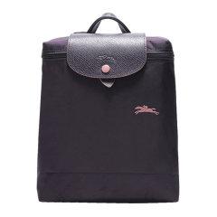 【包税】Longchamp/珑骧 LE PLIAGE系列女士纯色奔马徽标刺绣翻盖按扣拉链开合可折叠迷你双肩包手提包背包女包 1699619 多色可选图片