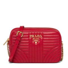 PRADA/普拉达 女士Prada Diagramme皮革斜挎包相机包 1BH083_2D91_V_IOI图片