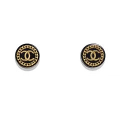 CHANEL/香奈儿  新款 双C水砖耳钉(配CHANEL礼品袋及礼品盒)图片
