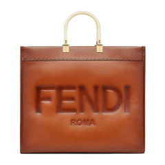 FENDI/芬迪 大号阳光购物牛皮革手提袋 8BH372 AF2G图片