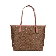 【包税】COACH/蔻驰 REVERSIBLECITY女包单肩手提包托特包36658棕色图片