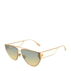 DIOR/迪奥 个性 时尚 潮流 多边 合金 全框 男女款 太阳镜 黑色 香槟金色 墨镜 眼镜 DIORCLAN2 61mm DIOR 迪奥图片