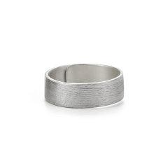 COLIMIDA/口力米大 原创设计情侣戒指纯银一对简约百搭手工定制男女潮流指环对戒饰品图片