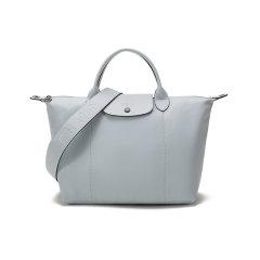 Longchamp/珑骧 女士LEPLIAGECUIR系列羊皮中号短柄可折叠手提单肩包 1515 757图片