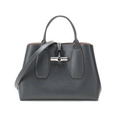 【国内现货】Longchamp/珑骧 女士ROSEAU系列中号牛皮手提单肩斜挎包竹节包 10058 HSC图片