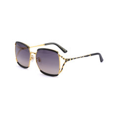 【包税】GUCCI/古驰  女士墨镜 灰色镜片黑色镜框 眼镜太阳镜图片