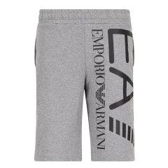 EA7/EA7阿玛尼【21春夏】男士短裤 阿玛尼男士纯色logo印花运动棉质时尚运动短裤图片