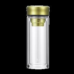 英国TAIC钛度水杯纯钛双层玻璃杯男女士时尚便携杯子泡茶杯带纯钛茶格滤网茶杯图片