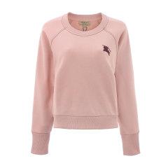 大陆现货秒发 BURBERRY/博柏利 burberry 巴宝莉 TB标 粉色圆领女士加绒卫衣 上衣 女士卫衣 女卫衣图片