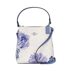 【包税】COACH/蔻驰  女士马车logo涂鸦单肩手提包 水桶包  2312白色印花图片
