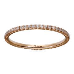 【包税】CARTIER/卡地亚 Étincelle de Cartier系列 18K金玫瑰金镶嵌49颗明亮式切割钻石 简约排钻结婚求婚订婚戒指B4210500图片