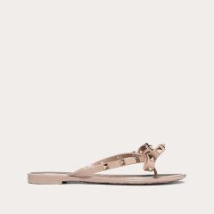 【国内现货】 Valentino/华伦天奴 21春夏 裸色/玫瑰色 ROCKSTUD 橡胶夹趾铆钉凉鞋 人字拖 凉拖鞋图片