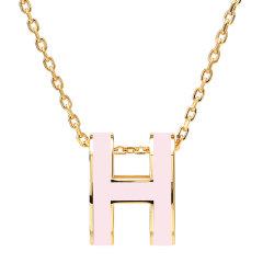 HERMES/爱马仕  爆款 POPH 淡粉色吊坠,(金色,玫瑰金色)项链图片