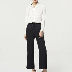 【DesignerWomenwear】Fate Flight/Fate Flight/女装>女士裤装>女士休闲裤/高腰宽松显瘦休闲直筒重磅真丝阔腿裤图片