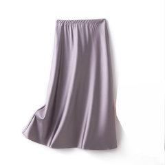 【DesignerWomenwear】Fate Flight/Fate Flight/女装>女士裙装>女士半身裙/真丝垂感气质修身A字裙OL通勤纯色桑蚕丝半裙图片