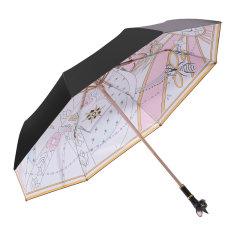 【2021年新品上市】MISS RAIN/MISS RAIN 可爱甜美猫头遮阳伞防晒防紫外线女晴雨两用轻奢太阳雨伞 甜美猫头系列雨伞 upf50+隔绝紫外线99%图片