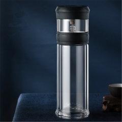 EDISH便携式茶水分离杯透明双层玻璃茶杯泡茶杯子943图片