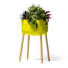 捷克进口都市系列木质高款自吸水花盆 盆栽 盆景养植绿植 花卉摆件图片