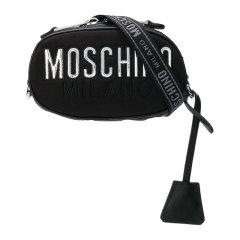 【包税】MOSCHINO/莫斯奇诺 女士棉质配皮经典字母徽标印花拉链开合单肩包斜挎包胸包腰包女包 B7703-8207 多色可选图片