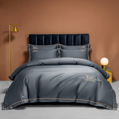 Fantti/芬缇 床上用品100支长绒棉绣花四件套被罩床单被单枕套床盖图片