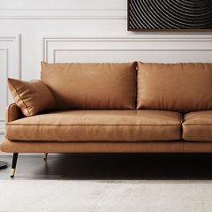 仿皮皮艺沙发 三人位组合现代简约单人位双人位三人位沙发 北欧皮质客厅沙发家具软垫靠背 LAPICIDA图片