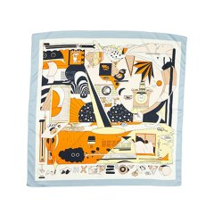 【礼盒装】【2021春夏新款】EVER UGG/EVER UGG 丝巾 TARRAMARRA小方巾优雅职业领巾女时尚春季女士小丝巾头巾空姐丝巾TAZB0680图片