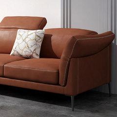 真纳帕皮皮艺沙发 三人位贵妃位组合现代简约单人位双人位三人位沙发 北欧皮质客厅沙发家具软垫靠背 LAPICIDA图片