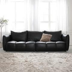 真纳帕皮皮艺沙发 三人位组合现代简约单人位双人位三人位沙发 北欧皮质客厅沙发家具软垫靠背 LAPICIDA图片