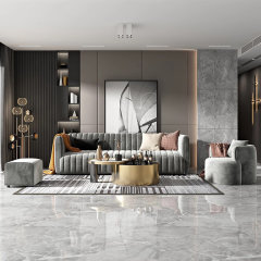 绒布布艺沙发 三人位组合现代简约单人位双人位三人位沙发 北欧客厅沙发家具软垫靠背 STEINHAFELS图片