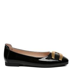 【2021春夏新款】EVER UGG/EVER UGG 平跟鞋 时尚漆皮一脚蹬懒人鞋金属扣饰平底鞋女 EA7014图片