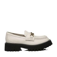 【2021春季新款】澳洲EVER UGG&EVERAU 英伦风厚底乐福鞋牛皮鞋面女单鞋平底粗低跟皮鞋 - EA7010图片