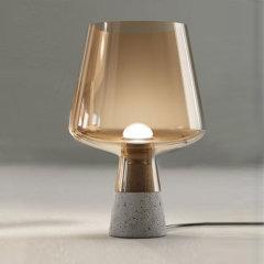 台灯暖光LED 大理石玻璃 现代简约北欧风 客厅卧室书房阅读灯床头桌灯复古装饰灯 Linea Zero图片