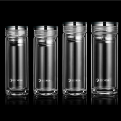 双层玻璃杯便携水晶杯子男士商务泡茶杯过滤【300ml/350ml/400ml/460ml 容量可选】图片