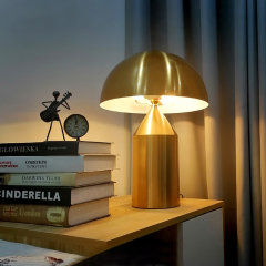 台灯暖光LED 金属现代简约北欧风 客厅卧室书房阅读灯床头桌灯复古装饰灯 Linea Zero图片