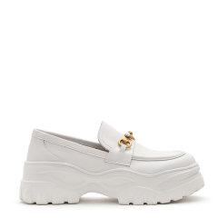 【2021春夏新款】Ozwear/Ozwear  松糕鞋  黛西马衔扣松糕厚底增高5.5cm乐福鞋女OZW249图片