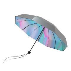 【2021年新品上市】MISS RAIN/MISS RAIN 遮阳伞防晒防紫外线女超轻小巧便携晴雨两用太阳伞折叠伞 UPF50 钛银涂层有效阻断紫外线99%图片