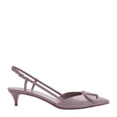 【21春夏】VALENTINO/华伦天女  经典V扣尖头4cm中跟凉鞋 VW2S0Q70图片