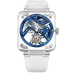 AGELOCER/艾戈勒手表陀飞轮系列 男士手表 男款镂空机械表新款合成红蓝宝石机械手表图片