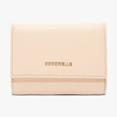 COCCINELLE/可奇奈尔 粒面小牛皮 牛皮革 METALLIC SOFT 钱夹 钱包 皮夹图片