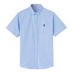 U.S.POLO ASSN./U.S.POLO ASSN.男士短袖衬衫 夏季男士商务衬衫 ACSMX-68510图片