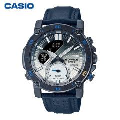 CASIO/卡西欧男表EDIFICE八角边框金属腕表防水双显指针日历世界时间商务男手表图片