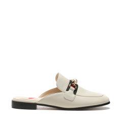 DKUGGAU2021春夏新款一脚蹬珍珠马衔扣外穿穆勒鞋平底单鞋女包头半拖鞋低跟平跟鞋DA1634图片