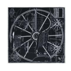 【礼盒装】【2021春夏新款】EVER UGG/EVER UGG 丝巾 TARRAMARRA时尚百搭几何图案丝巾TAZB2101-2120图片