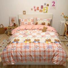 全棉40支纱卡通四件套 女生女孩床上用品被套床单4件套图片
