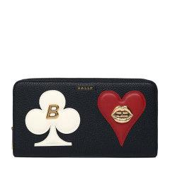 【包税】BALLY/巴利  女士乳白色印手拿包钱包卡包零钱包女包 多色可选图片