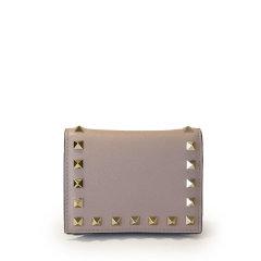 【包税】Valentino/华伦天奴  女包 时尚 铆钉装饰 女士皮革钱包 VW2P0R39BOL 0NO HKY015678图片