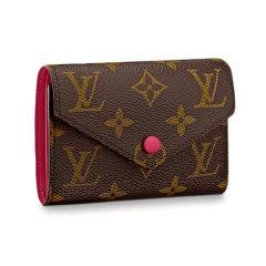 【包税】Louis Vuitton/路易威登  女士女包 短款经典VICTORINE老花 钱包钱夹卡包图片