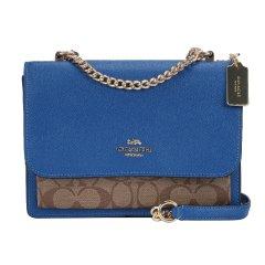 【包税】COACH/蔻驰 女士时尚链条款单肩斜挎小方包  91019深蓝色 均码图片