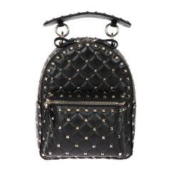 【包税】Valentino/华伦天奴女士黑色铆钉装饰双肩包背包女包 PW0B0B63-NAP-0NO图片